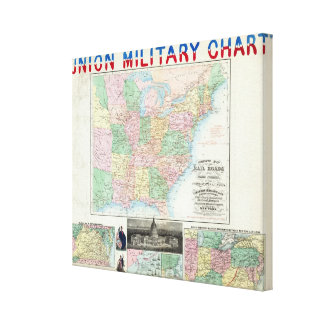 Union Military Chart Stretched Canvas Print