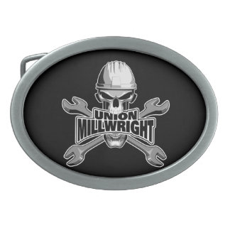 Union Millwright: Skull and Wrenches Belt Buckle
