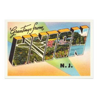 Union New Jersey NJ Old Vintage Travel Postcard- Photographic Print
