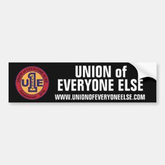 Union of Everyone Else Bumper Sticker / Black