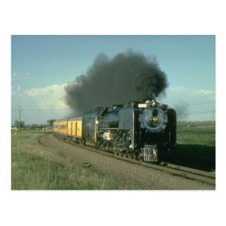 Union Pacific splendor, No. 8444 heads for Denver Postcard