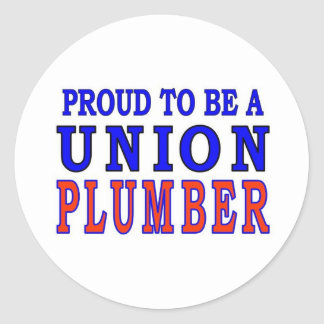 UNION PLUMBER CLASSIC ROUND STICKER