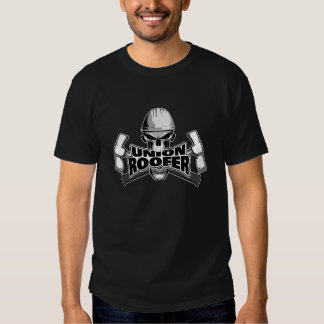 Union Roofer: Skull and Hammers Tee Shirts