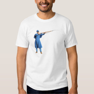 Union Soldier Aiming To The Left with Rifle T Shirt