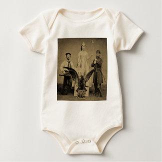 Union Soldier, Sailor, and Lady Liberty Civil War Baby Bodysuit