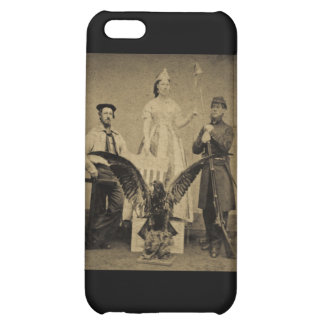 Union Soldier, Sailor, and Lady Liberty Civil War iPhone 5C Cover
