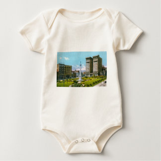 Union Square and St. Francis Hotel Baby Bodysuit