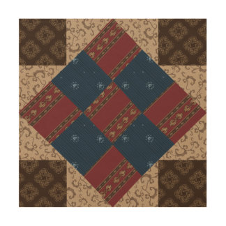 Union Square Quilt Block Wood Panel Wall Art