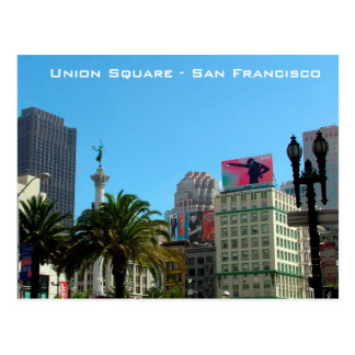 Union Square - San Francisco Postcard