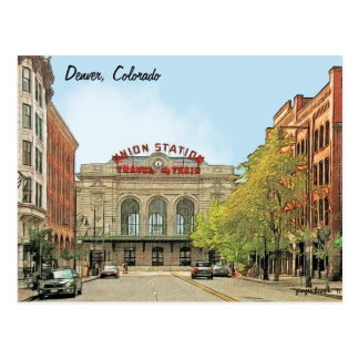Union Station, Denver, CO, Travel By Train Postcard