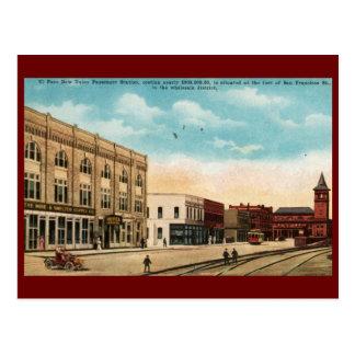 Union Station, El Paso, TX 1916 Vintage Postcard