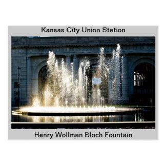 Union Station Fountain Postcard