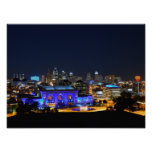 Union Station in Blue, Kansas City (16x12) Poster