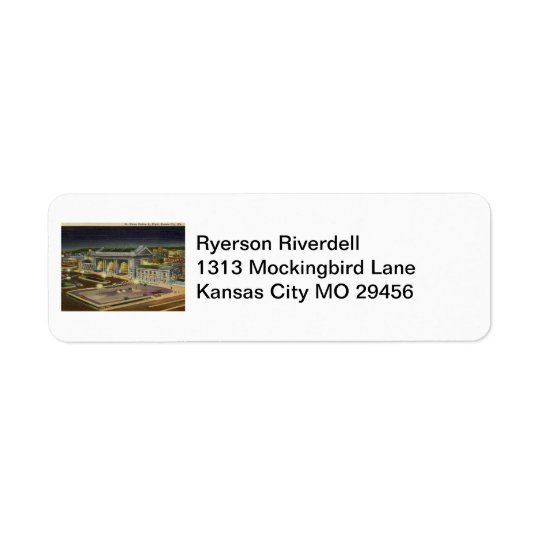 Union Station, Kansas City, Missouri Vintage Return Address Label