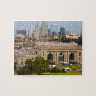 Union Station, Kauffman Center, Sky Stations KC Jigsaw Puzzle
