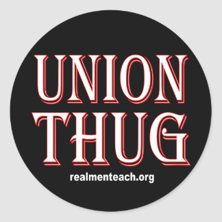 UNION THUG CLASSIC ROUND STICKER