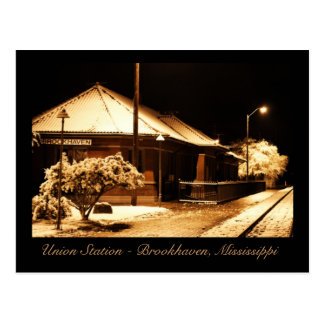 Union Train Station - Brookhaven, Mississippi Postcard