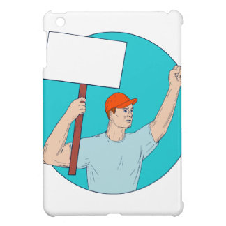 Union Worker Activist Placard Protesting Fist Up C Cover For The iPad Mini