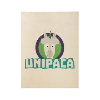 Unipaca Unicorn Alpaca Z67aj Wood Poster