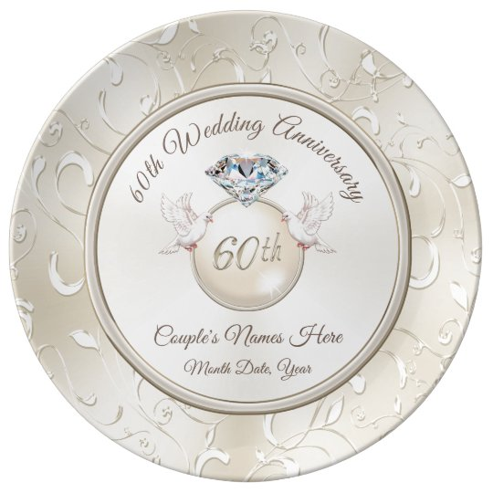 Unique Wedding Gifts For Couples: Unique 60th Wedding Anniversary Gifts For Couples Plate