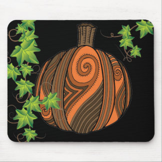 Unique Abstract Pumpkin Halloween Mousepad
