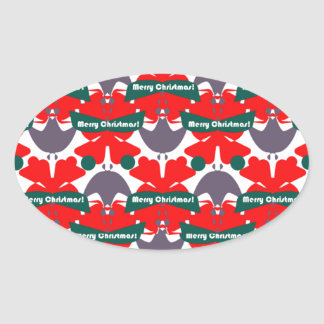 Unique Abstract Oval Sticker