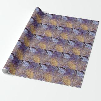 Unique acrylic pour design gift wrap