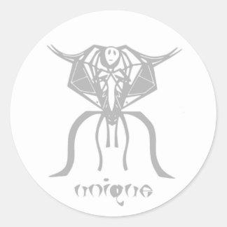 unique alien round sticker