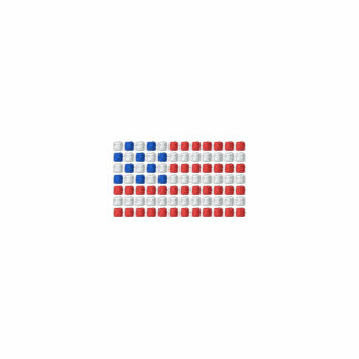 Unique American flag t shirt - dotted USA flag