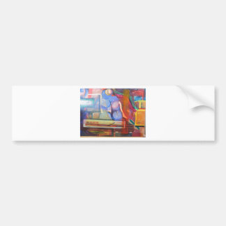 unique and colorful trendy home decor bumper sticker