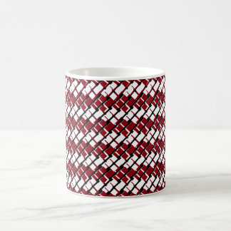 Unique and Cool Red & White Argyle Styled Pattern Coffee Mug