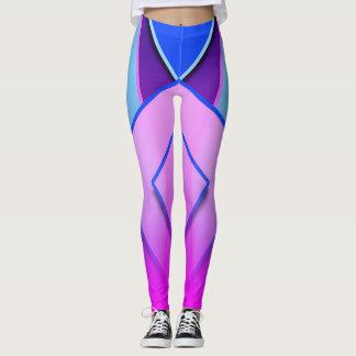 Unique and cute blue purple pink lavender Leggings
