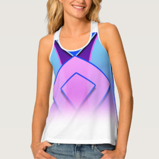 Unique and cute blue purple pink lavender Tank Top