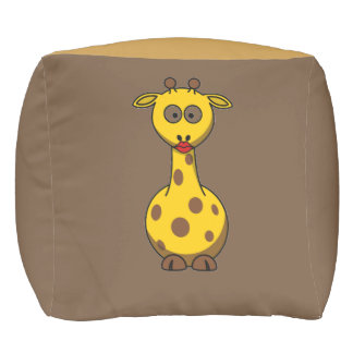 Unique and Elegant  Baby Giraffe Cubed Pouf