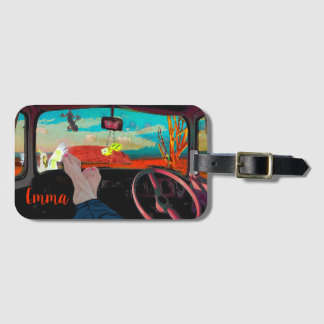 Unique and personal name. luggage tag
