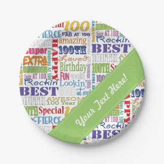 Unique And Special 100th Birthday Party Gifts Paper Plate