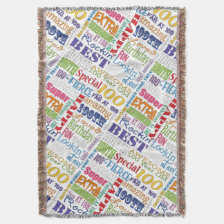 Unique And Special 100th Birthday Party Gifts Throw Blanket