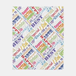 Unique And Special 18th Birthday Party Gifts Fleece Blanket