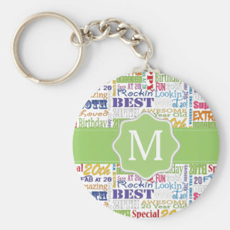 Unique And Special 20th Birthday Party Gifts Key Ring