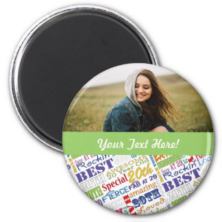 Unique And Special 20th Birthday Party Gifts Magnet