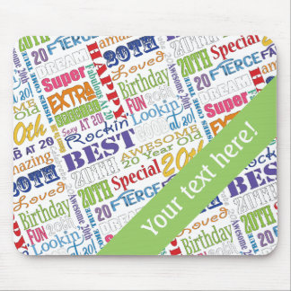 Unique And Special 20th Birthday Party Gifts Mouse Pad