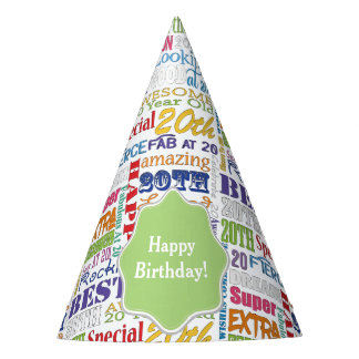 Unique And Special 20th Birthday Party Gifts Party Hat