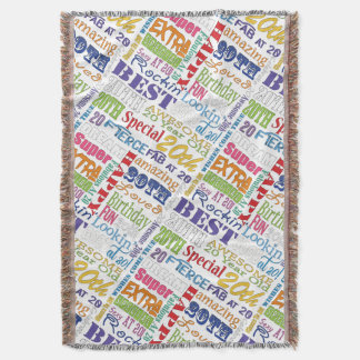 Unique And Special 20th Birthday Party Gifts Throw Blanket
