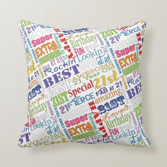Unique And Special 21st Birthday Party Gifts Cushion