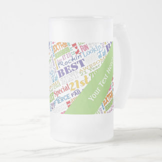 Unique And Special 21st Birthday Party Gifts Frosted Glass Beer Mug