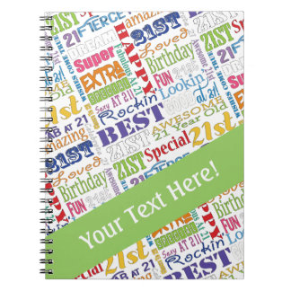 Unique And Special 21st Birthday Party Gifts Notebook