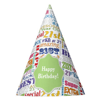 Unique And Special 21st Birthday Party Gifts Party Hat