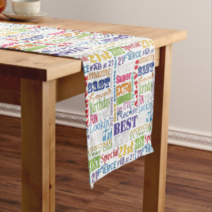 Unique And Special 21st Birthday Party Gifts Short Table Runner