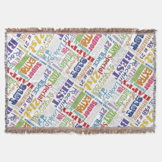 Unique And Special 21st Birthday Party Gifts Throw Blanket