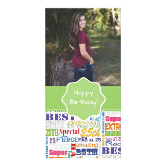 Unique And Special 25th Birthday Party Gifts Card